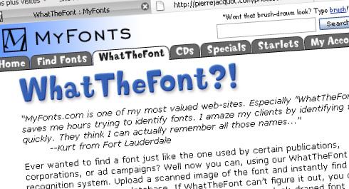What The Font … pour retrouver le nom de vos polices