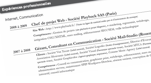 Recherche d'emploi : Chef de projet Web – Webmaster